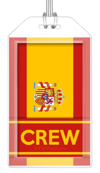 Spain Flag Crew Bag Tag (Set of 2)