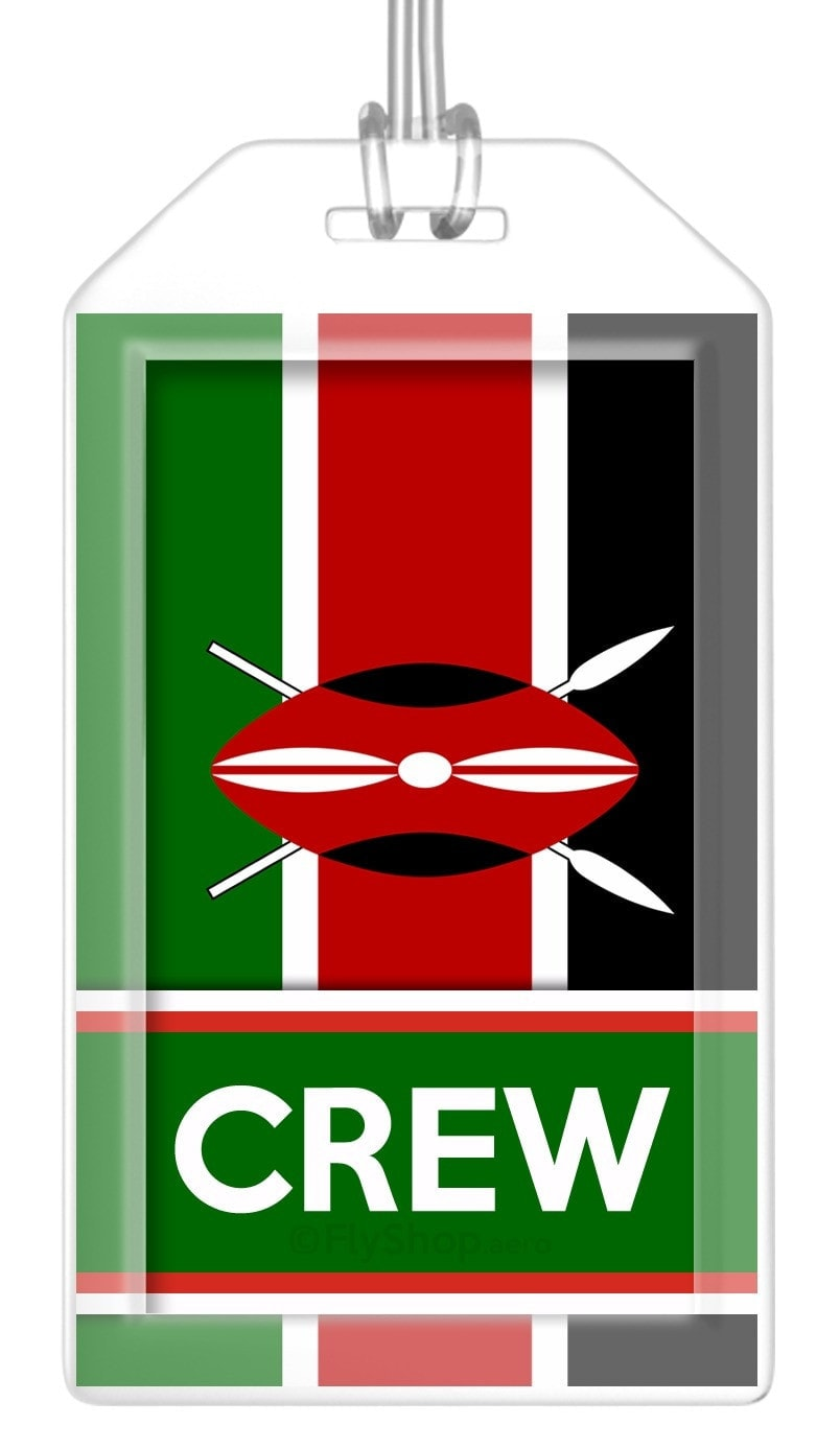 Kenya Flag Crew Bag Tag (Set of 2)