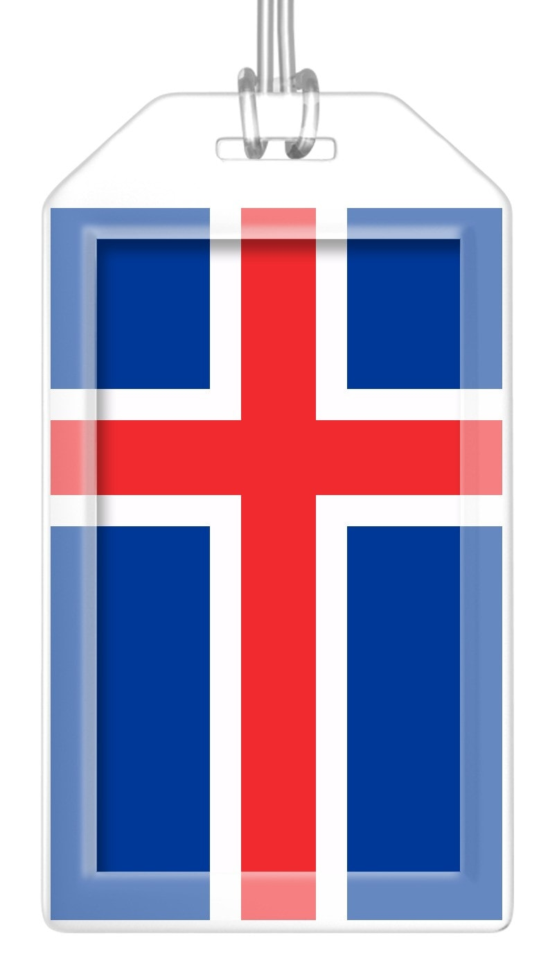 Iceland Flag Bag Tag (Set of 2)