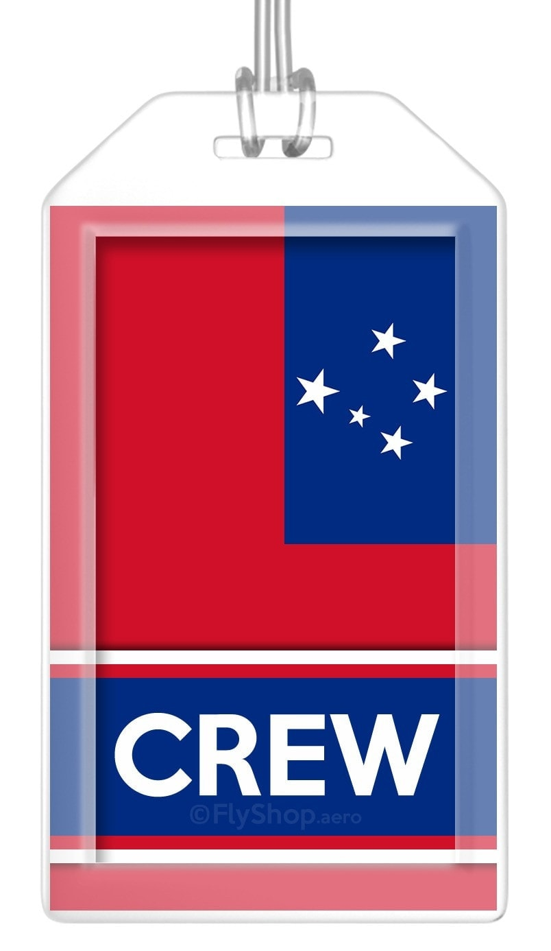Samoa Flag Crew Bag Tag (Set of 2)