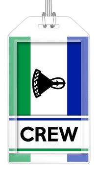 Lesotho Flag Crew Bag Tag (Set of 2)
