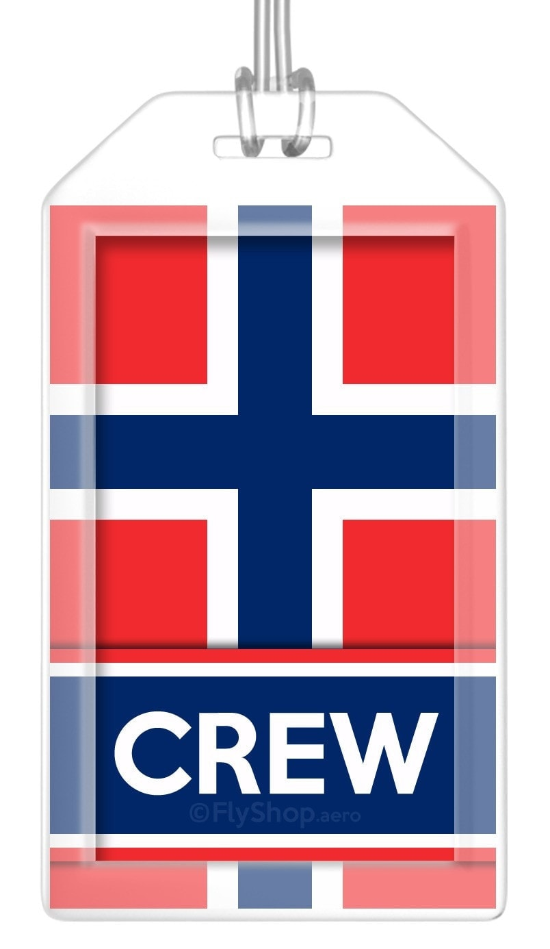 Norway Flag Crew Bag Tag (Set of 2)