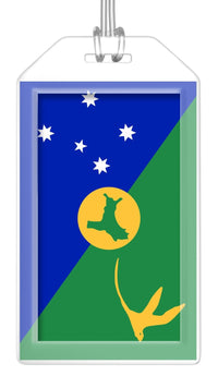 Christmas Island Flag Bag Tag (Set of 2)