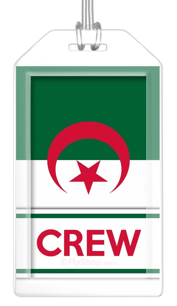 Algeria Flag Crew Bag Tag (Set of 2)