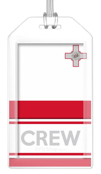 Malta Flag Crew Bag Tag (Set of 2)