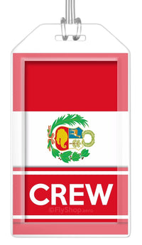 Peru Flag Crew Bag Tag (Set of 2)