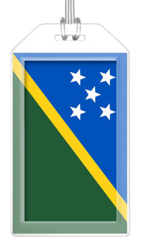 Solomon Islands Flag Bag Tag (Set of 2)