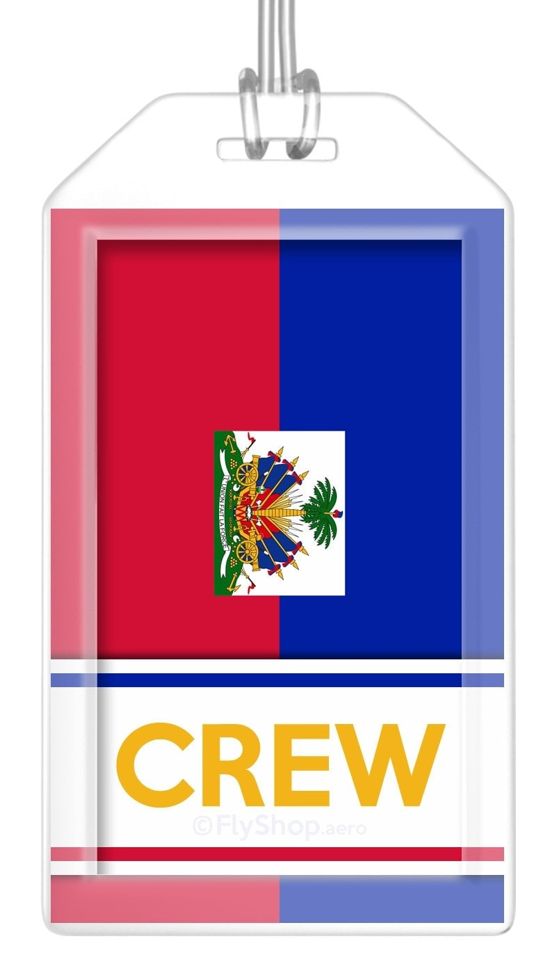 Haiti Flag Crew Bag Tag (Set of 2)