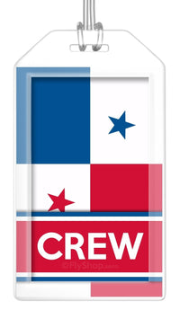 Panama Flag Crew Bag Tag (Set of 2)
