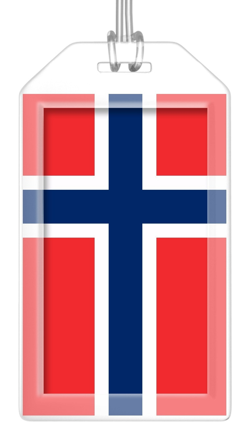 Norway Flag Bag Tag (Set of 2)