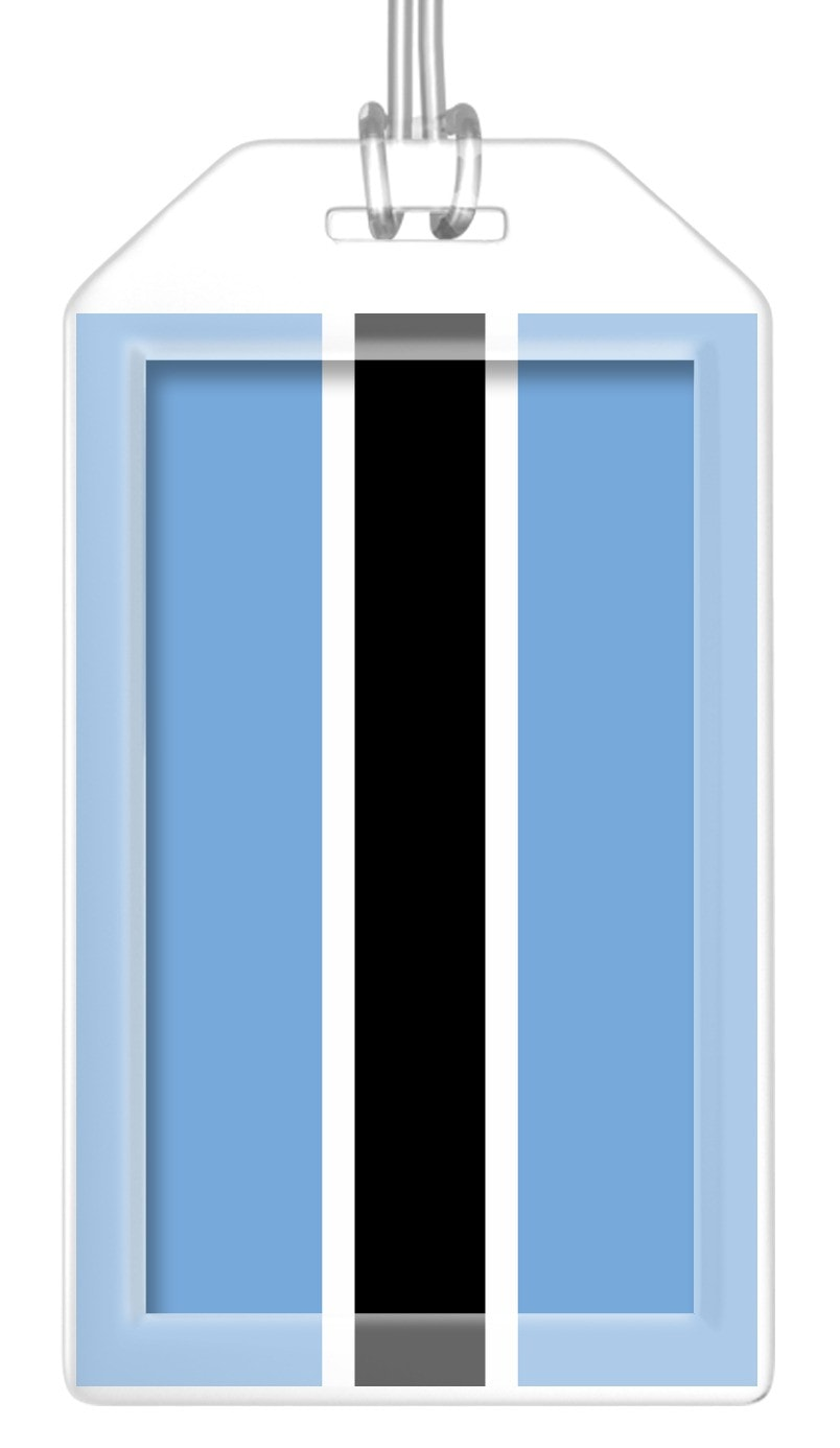 Botswana Flag Bag Tag (Set of 2)