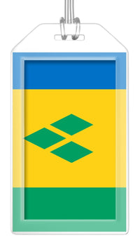 St. Vincent and Grenadines Flag Bag Tag (Set of 2)