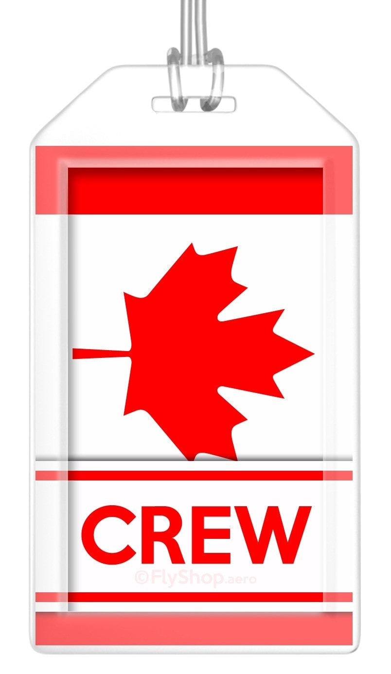 Canada Flag Crew Bag Tag (Set of 2)