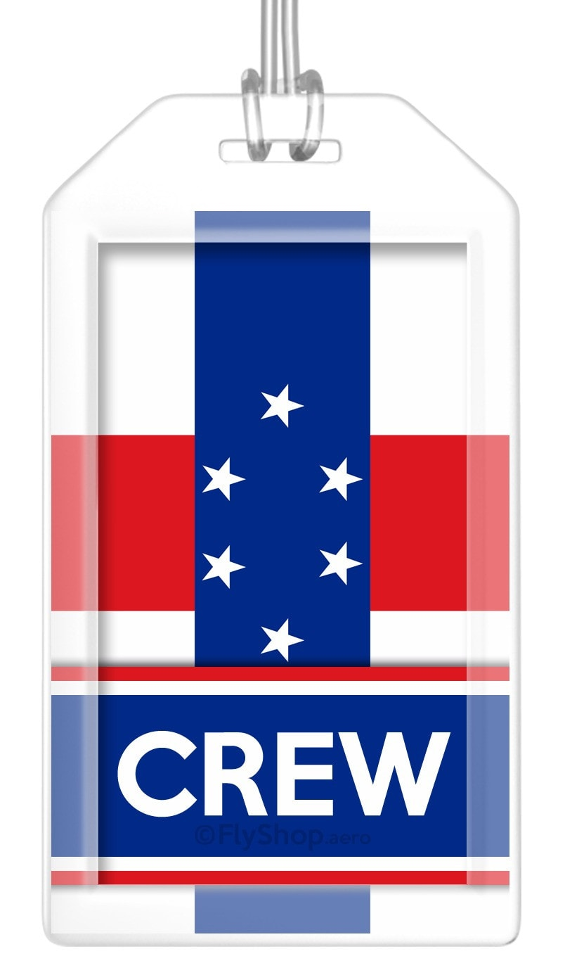 Antilles (Netherlands) Flag Crew Bag Tag (Set of 2)