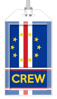 Cape Verde Flag Crew Bag Tag (Set of 2)