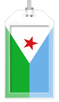 Djibouti Flag Bag Tag (Set of 2)