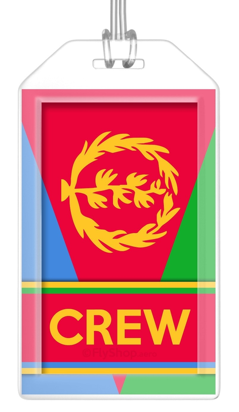 Eritrea Flag Crew Bag Tag (Set of 2)