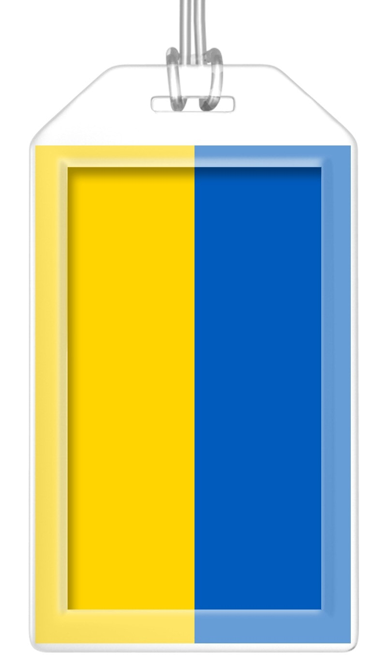 Ukraine Flag Bag Tag (Set of 2)
