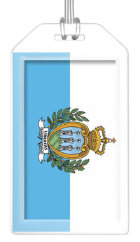 San Marino Flag Bag Tag (Set of 2)