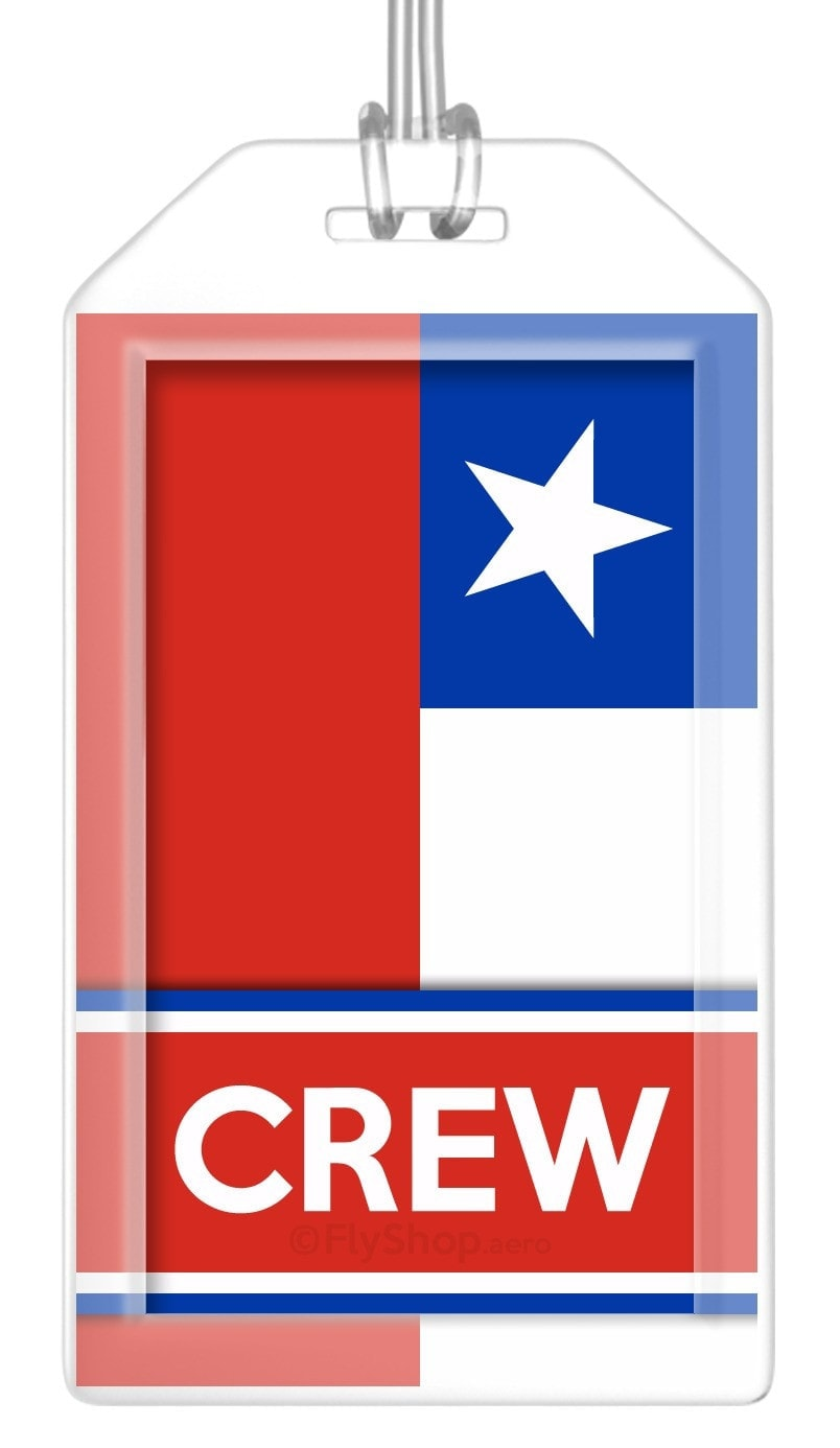 Chile Flag Crew Bag Tag (Set of 2)