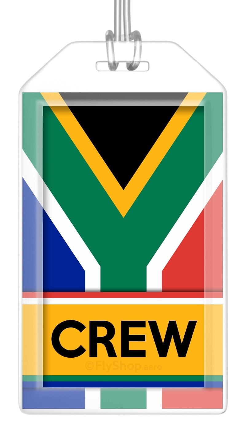 South Africa Flag Crew Bag Tag (Set of 2)