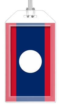 Laos Flag Bag Tag (Set of 2)