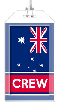 Australia Flag Crew Bag Tag (Set of 2)