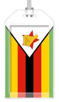 Zimbabwe Flag Bag Tag (Set of 2)