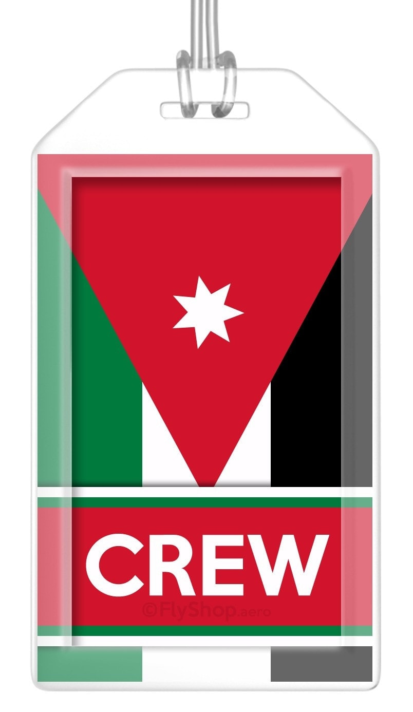 Jordan Flag Crew Bag Tag (Set of 2)