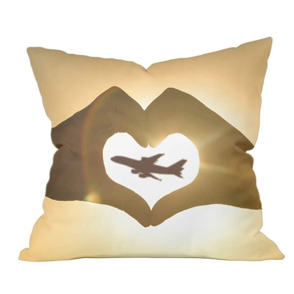 Heart Hands Airbus Series Pillow