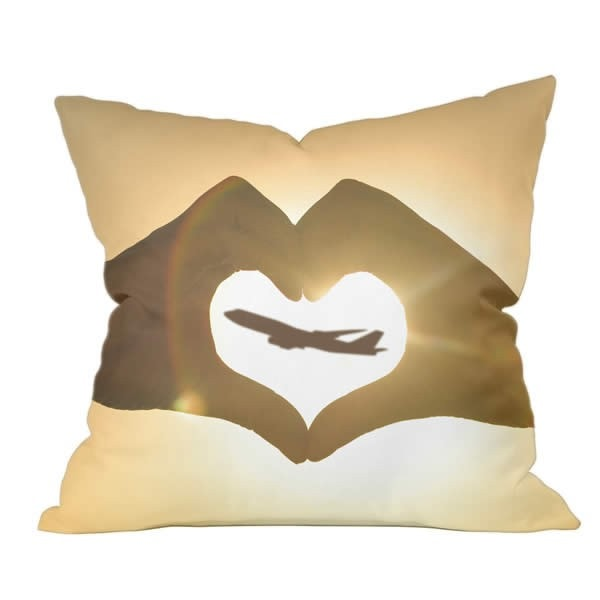 Heart Hands Boeing Series Pillow