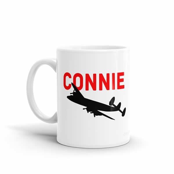Sleek Silhouette Lockheed Constellation Mug