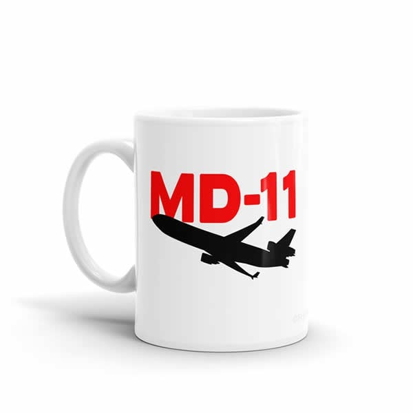 Sleek Silhouette MD-11 Mug