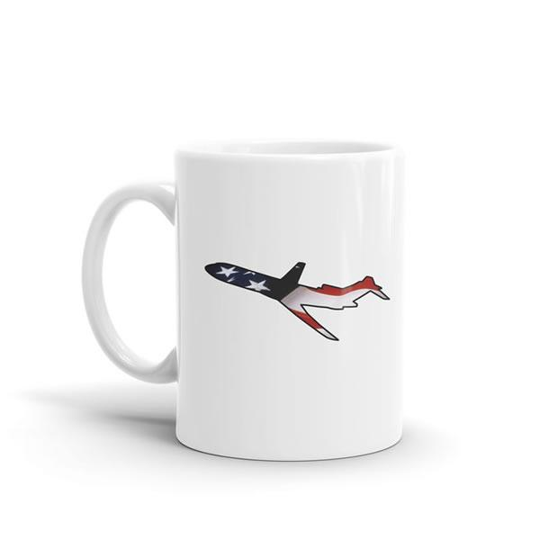 Star Spangled Boeing 727 Mug