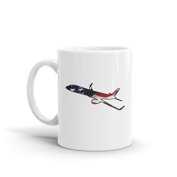 Star Spangled Boeing 757 Mug