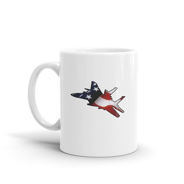 Star Spangled F-15 Eagle Mug