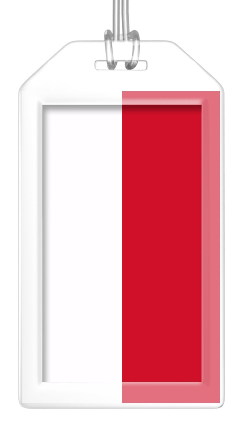 Indonesia Flag Bag Tag (Set of 2)