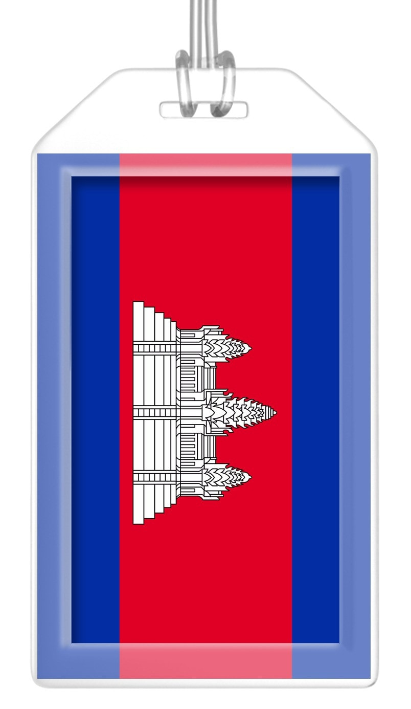 Cambodia Flag Bag Tag (Set of 2)