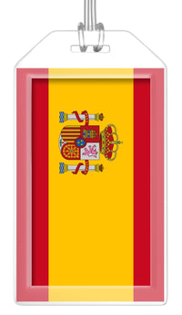 Spain Flag Bag Tag (Set of 2)