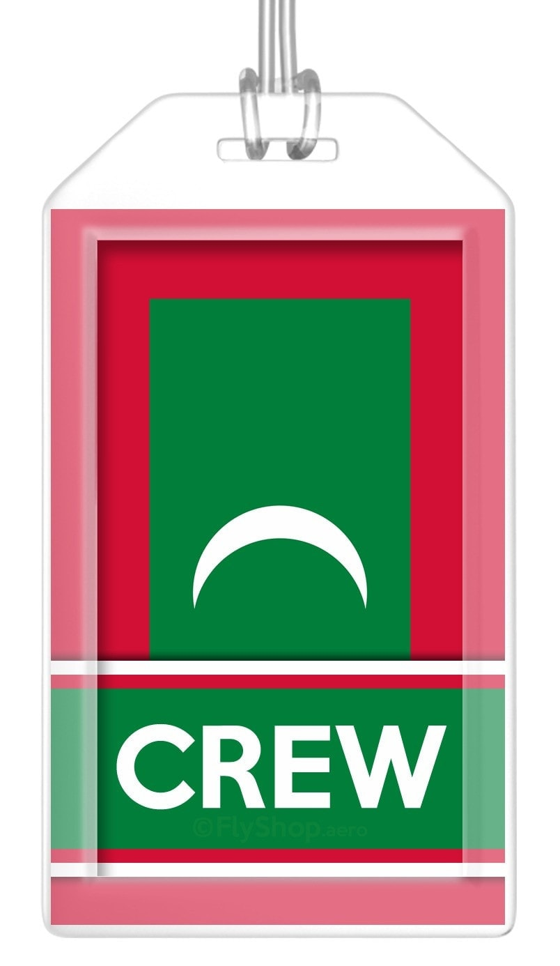 Maldives Flag Crew Bag Tag (Set of 2)