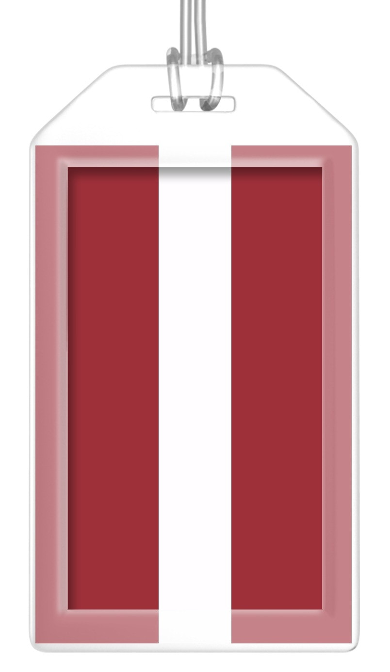 Latvia Flag Bag Tag (Set of 2)