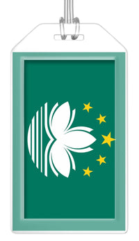 Macau Flag Bag Tag (Set of 2)