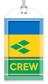 St. Vincent and Grenadines Flag Crew Bag Tag (Set of 2)