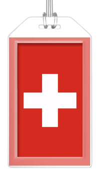 Switzerland Flag Bag Tag (Set of 2)