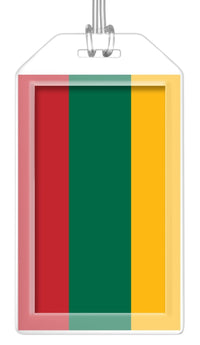 Lithuania Flag Bag Tag (Set of 2)