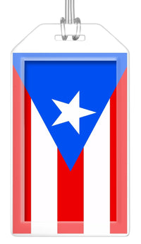 Puerto Rico Flag Bag Tag (Set of 2)