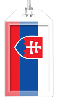 Slovakia Flag Bag Tag (Set of 2)