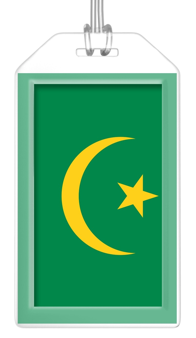 Mauritania Flag Bag Tag (Set of 2)