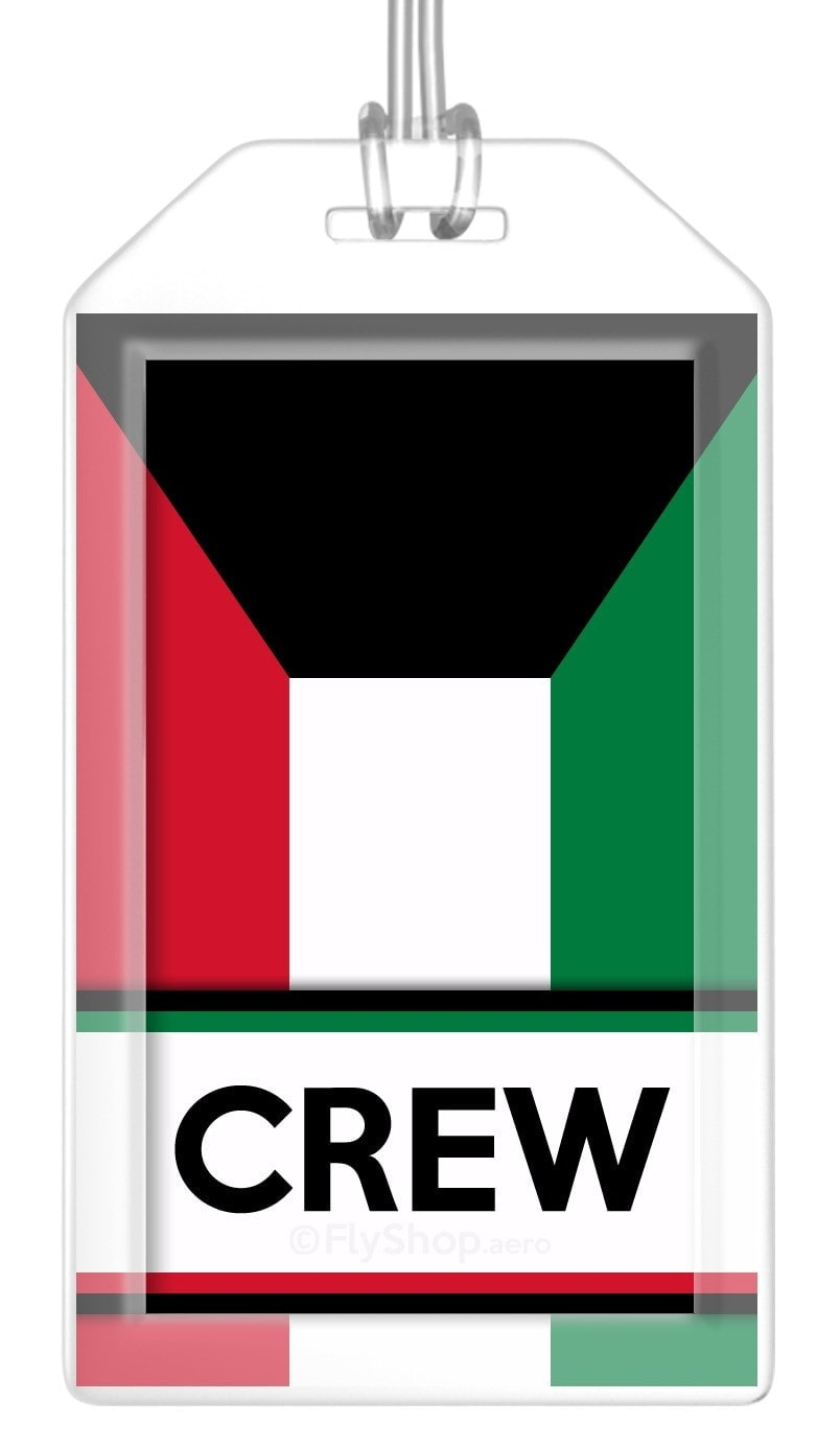 Kuwait Flag Crew Bag Tag (Set of 2)