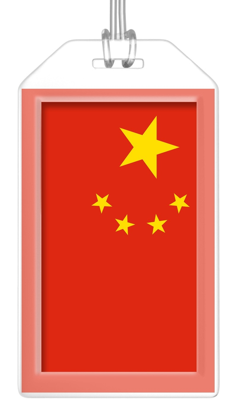 China Flag Bag Tag (Set of 2)